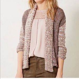 Anthropologie Moth Woodhouse Open Sweater Cardigan